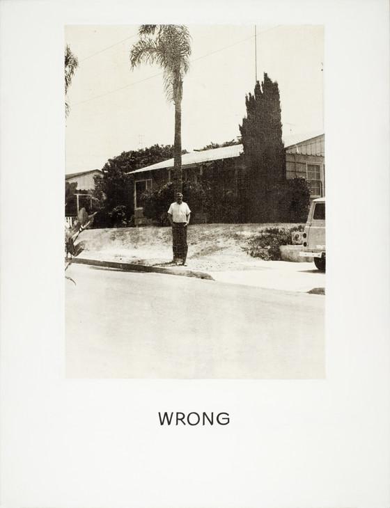 Wrong John Baldessari (United States, California, National City, active California, Santa Monica, born 1931-2020) 1966-1968 Paintings Photoemulsion with acrylic on canvas 59 x 45 in. (149.86 x 114.3 cm)